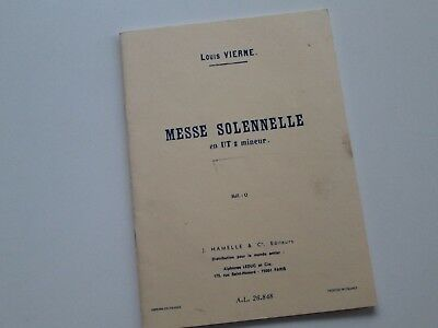 Louis Vierne - Messe Solennelle in C Minor Mixed Voice SATB Hamelle Leduc Paris