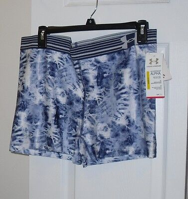 """NWT Womens Under Armour Tie Dye Fitted Compression Yoga / Workout Shorts XS 3"""""""