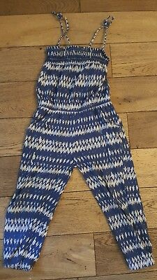Girls play suit blue and white age 5 years