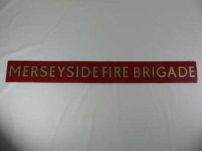 (Ref165 2) Merseyside Fire Brigade Old Painted Sign