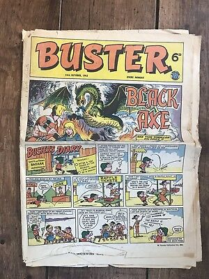 Buster 12th October 1963 Comic Beano Whizzer N Chips Interest