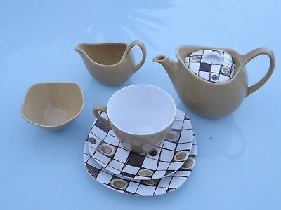 Midwinter Stylecraft For 1 Person Teapot/Cup/Saucer/Sideplate/Milk jug/SugarBowl