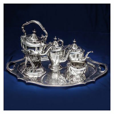 Reed & Barton sterling silver 6 piece coffee & tea set with kettle and...