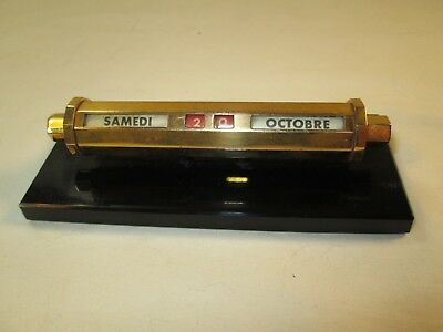 Vintage French Paper Weight Desk Calendar for an Office C-1950s France