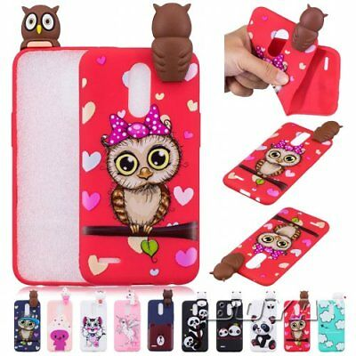 For LG Protective skins Pattern  3D Cute animal  Phone Case OWL Soft TPU Unicorn