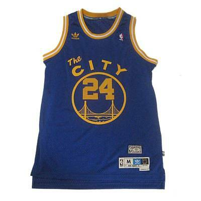 1dd1af98d New NBA Golden State Warriors Rick Barry  24 Hardwood Classic Blue XL