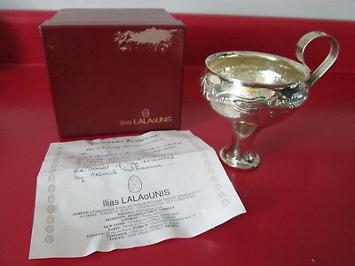 Ilias Lalaounis 925 Sterling - Hand Hammered - Lion Cup  O/b & Certification #2