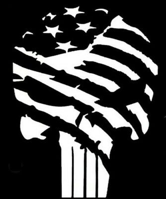 PUNISHER PATRIOTIC Vinyl Decal -Sticker for Car Truck Bumper Wall Window Laptop