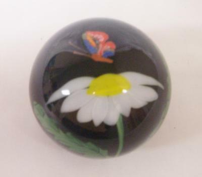 """Orient And Flume - Art Glass """"shooting Star"""" Paperweight - Coa -  Registration"""