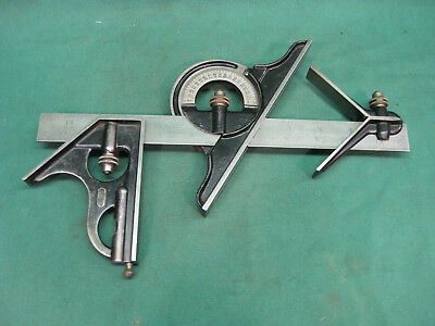 """Starrett Four Piece Combination Square With 12"""" Rule"""