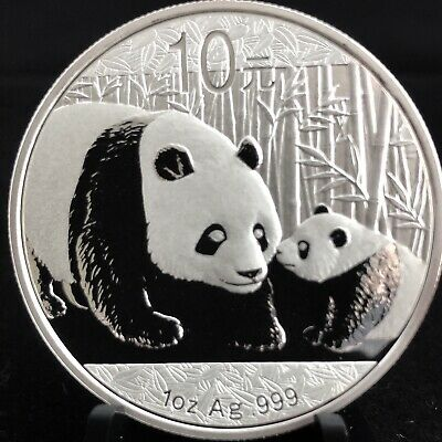 2011 1 oz Chinese Silver Panda BU Investment Grade .999 Bullion Coin