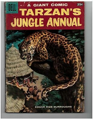 Edgar Rice Burroughs' Tarzan's Jungle Annual #7 (1958, Dell) : VG