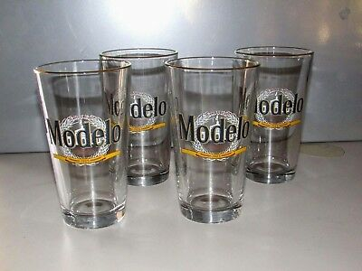 NEW 4 Modelo Especial 1925 Pint Beer Glasses 16oz Pub Bar Glass Cereveza