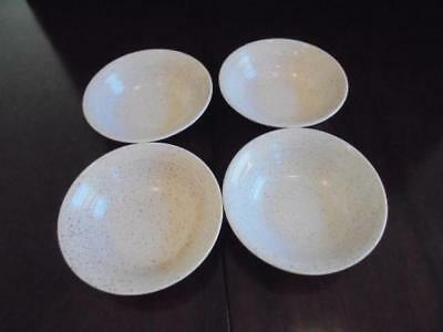 4 Churchill England Stonecast Homespun 6 Inch Coupe Cereal Soup Bowls EUC!