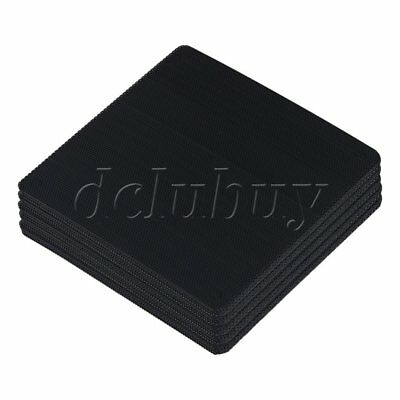 50pcs Black Computer Case Fan Dustproof Dust Filter Fits Standard 120mm Fans