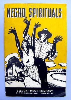 1937 Music booklet- 'NEGRO SPIRITUALS', 21 songs:  Great Black Ethnic Cover!