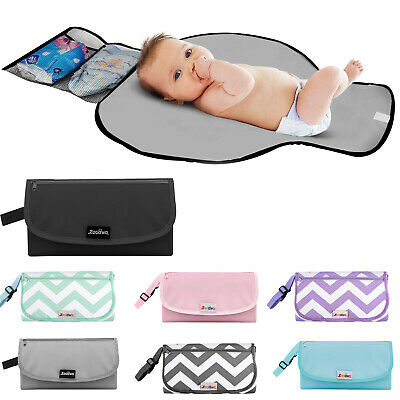 Zooawa Carrying Diaper Changing Pad Mat Waterproof Folding Station Clutch Bag