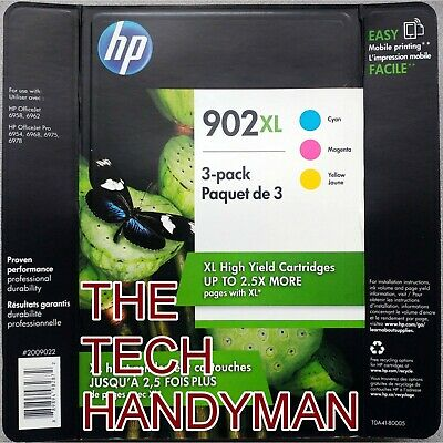 3-PACK HP GENUINE 902XL Color Ink (WAREHOUSE STORE PACK) OFFICEJET PRO 6960 6968