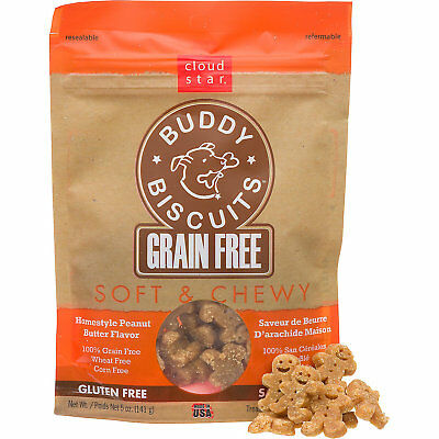 Buddy Biscuits Grain-Free Peanut Butter 5 oz   Soft and Chewy Treats for Dogs