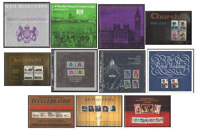 Royal Mail Commemorative Presentation Books / Folders. Each sold separately.