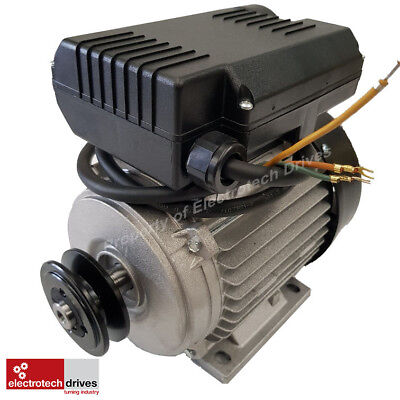 3HP Compressor Motor 2.2KW 2800rpm 2 Pole 240v 19mm shaft 80 Frame and Pulley
