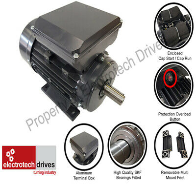 Single Phase Electric Motor 0.18kw- 4kw 240v 1400rpm & 2800rpm B3 B5 B14 B34 B35