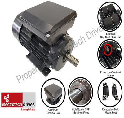 Single Phase Electric Motor 0.18kw to 4kw 240v 1400rpm and 2800rpm b3 b35 b34