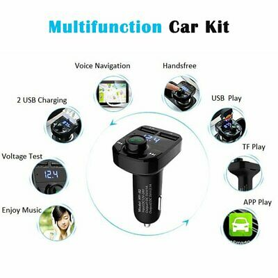 Wireless Bluetooth FM Transmitter Adapter Car Kit USB Charger Audio Receiver