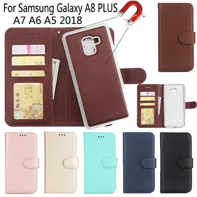 Flip PU Leather Case For Samsung Galaxy A8 2018 Cover Book Wallet Phone Cover