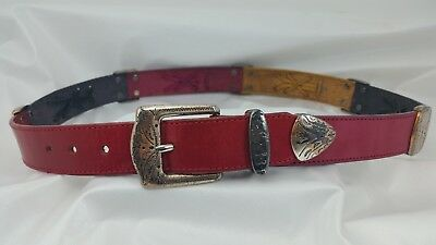 Brighton Women's Belt Size M Vintage Multi-Colored Leather - Western Style