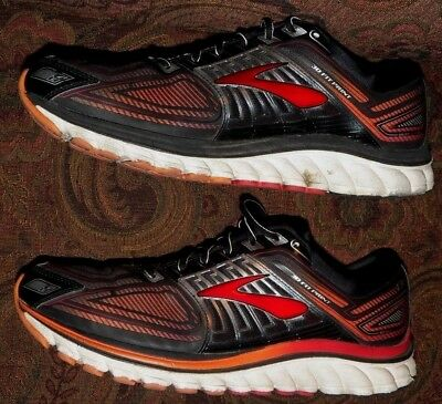 9863c5695d7 BROOKS GLYCERIN G13 3D FIT PRINT RUNNING SHOES Men s US Size 13 Black Red  Silver