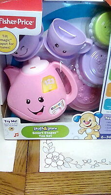 NEW Fisher-Price Laugh & Learn Smart Stages Tea Set PRETEND PLAY FREE SHIPPING