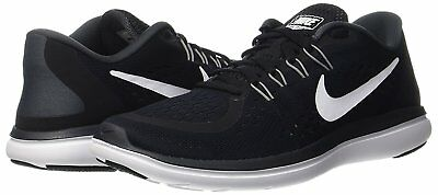 c7809a02744 NIKE FLEX 2017 RN Size 9 Black/White-Anthracite Men's Running Shoes ...