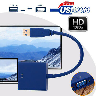 Projector Tablet High Performance Connector Cable USB To VGA USB 3.0 Adapter