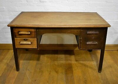 Antique vintage large early 20th century writing desk