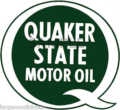 6 Inch Quaker State Vintage Style Decal Sticker