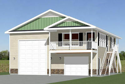 36x40 Apartment With 1 Car 1 RV Garage    PDF Floor Plan   Awesome Ideas