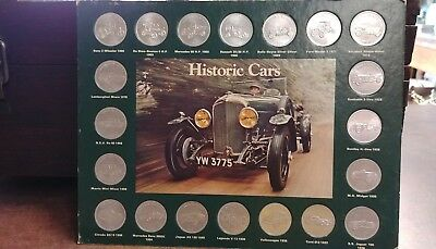 Historic Cars from Shell 1886-1970 Coins on card collection Shell Advertising
