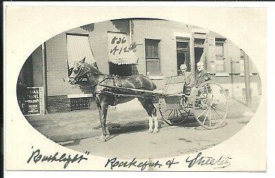Horse and Carriage S.12th St. Philadelphia PA Vintage Original Postcard