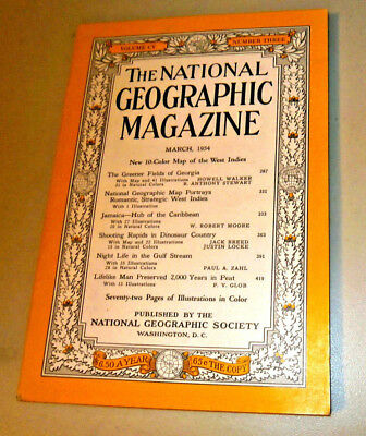 THE NATIONAL GEOGRAPHIC MAGAZINE. March 1954. Fully Illustrated. No Map.