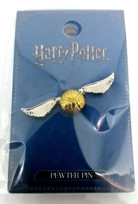 Harry Potter Golden Snitch Pewter Lapel Pin OFFICIAL Quidditch Collectible
