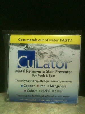 CuLator PowerPak Metal Eliminator and Stain Preventer for Pools and Spas