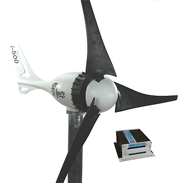 SET 24V/i-500Plus WINDGENERATOR + HYBRID LADEREGLER, BLACK EDITION, iSTA-BREEZE®