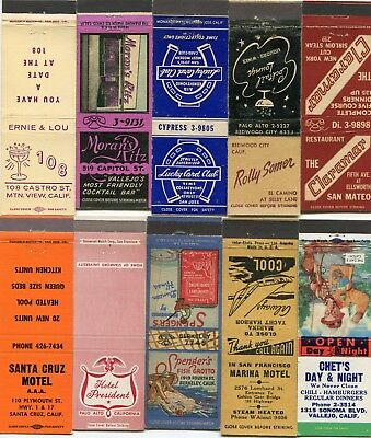50 San Francisco / Oakland Bay Area California Cities Front Strike Matchcovers