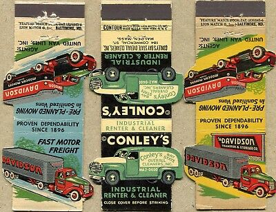 50 Truck Front Strike Matchcovers - All With Truck Pictures