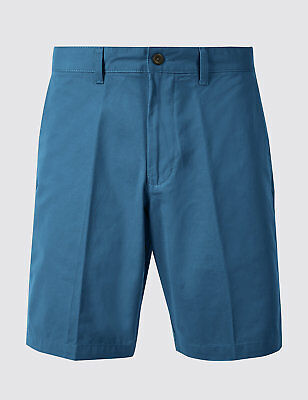 Mens Ex m&s Pure Cotton Chino Shorts 3 Colours Marks & Spencer  BNWOT !