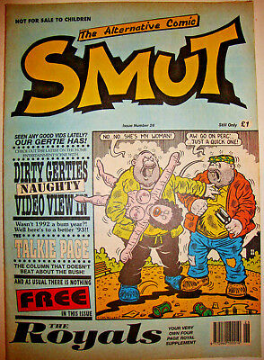 Smut Comic Issue 26 Viz Style Adult Black Comedy January 1993 Vg Condition