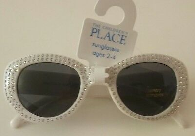 The Children's Place Girl's White Gem Sunglasses 2-4Y