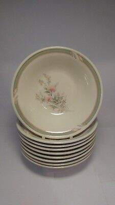 "Set of NINE Noritake 9172 Pennfield 7 1/8"" Coupe Cereal Bowls - Very Good Cond."