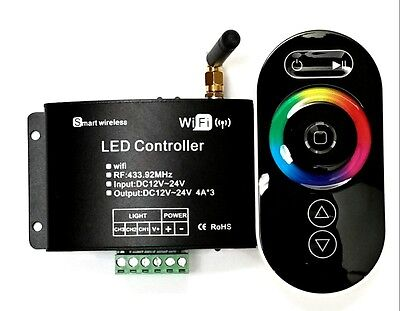 Wi-Fi Rgb Led Controller With Remote Wifi L.e.d. Iphone Or Android Usa Seller